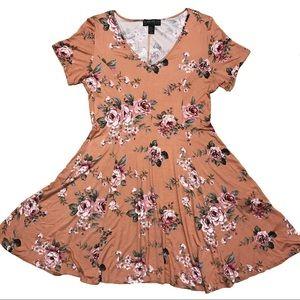 F21+ floral skater dress